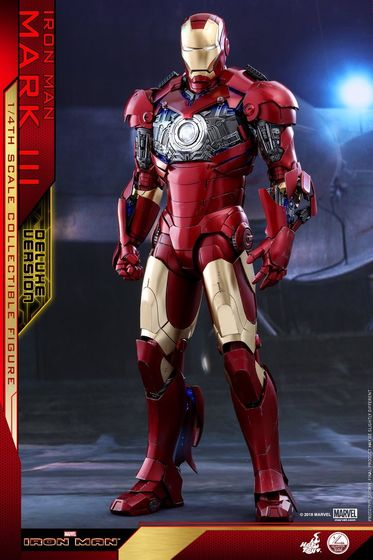 Iron Man 1-  Mark III (3) 1/4 - Deluxe version and normal version (Hot toys) 13473210