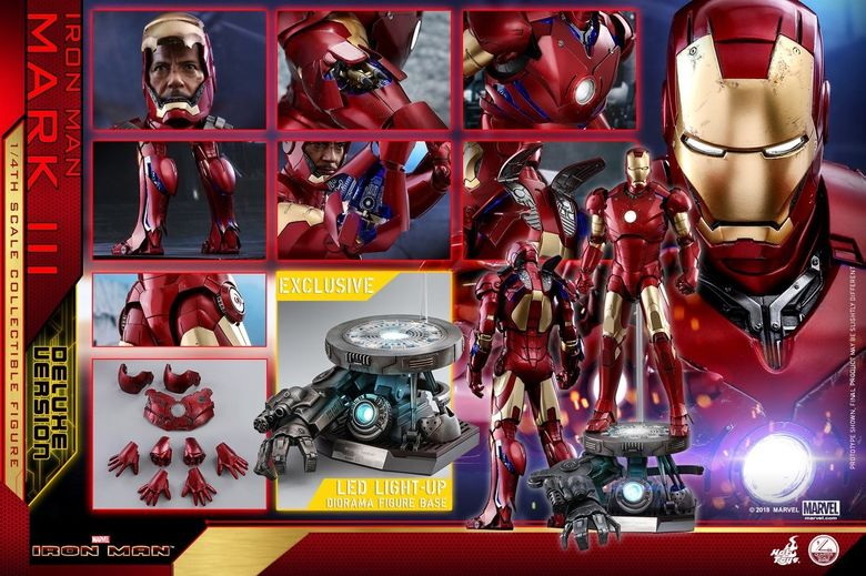 Iron Man 1-  Mark III (3) 1/4 - Deluxe version and normal version (Hot toys) 13482110