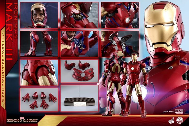 Iron Man 1-  Mark III (3) 1/4 - Deluxe version and normal version (Hot toys) 14361510