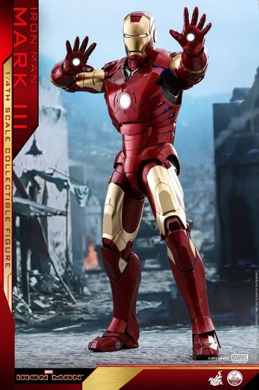 Iron Man 1-  Mark III (3) 1/4 - Deluxe version and normal version (Hot toys) 14362510