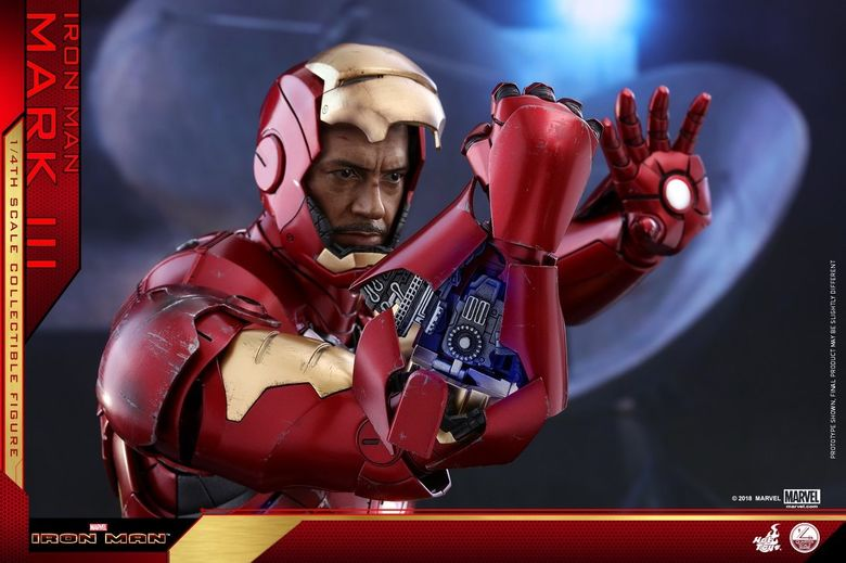 Iron Man 1-  Mark III (3) 1/4 - Deluxe version and normal version (Hot toys) 14363110