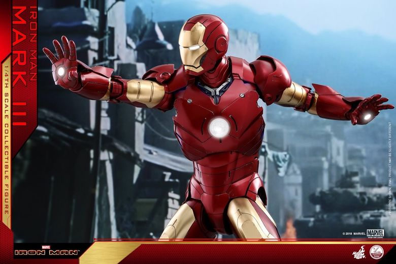Iron Man 1-  Mark III (3) 1/4 - Deluxe version and normal version (Hot toys) 14364510