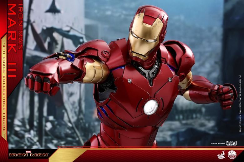 Iron Man 1-  Mark III (3) 1/4 - Deluxe version and normal version (Hot toys) 14365110
