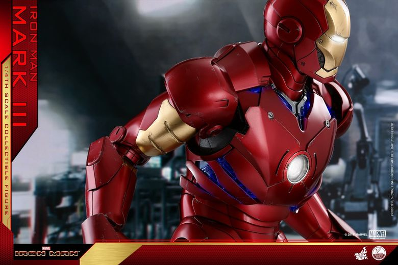 Iron Man 1-  Mark III (3) 1/4 - Deluxe version and normal version (Hot toys) 14371110