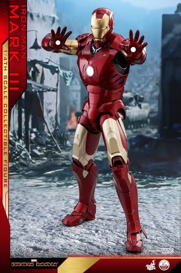 Iron Man 1-  Mark III (3) 1/4 - Deluxe version and normal version (Hot toys) 14371911