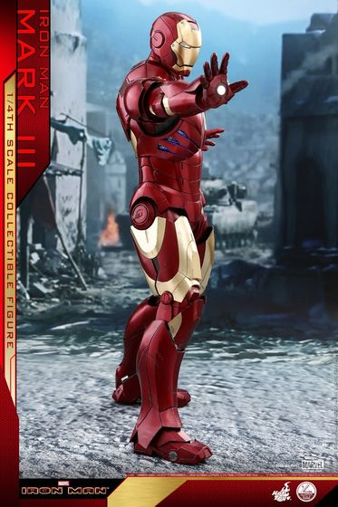 Iron Man 1-  Mark III (3) 1/4 - Deluxe version and normal version (Hot toys) 14372710