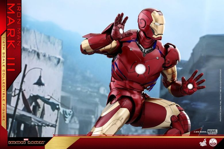 Iron Man 1-  Mark III (3) 1/4 - Deluxe version and normal version (Hot toys) 14373310