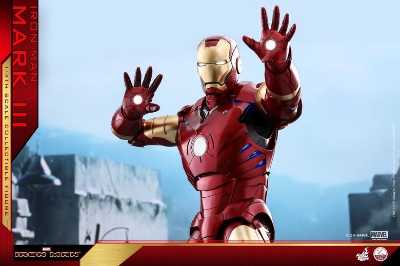 Iron Man 1-  Mark III (3) 1/4 - Deluxe version and normal version (Hot toys) 14374010