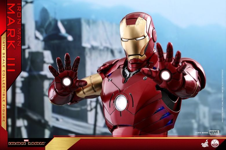 Iron Man 1-  Mark III (3) 1/4 - Deluxe version and normal version (Hot toys) 14374610