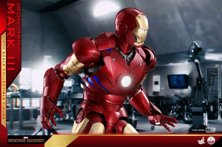 Iron Man 1-  Mark III (3) 1/4 - Deluxe version and normal version (Hot toys) 14375310