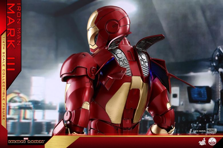 Iron Man 1-  Mark III (3) 1/4 - Deluxe version and normal version (Hot toys) 14375910