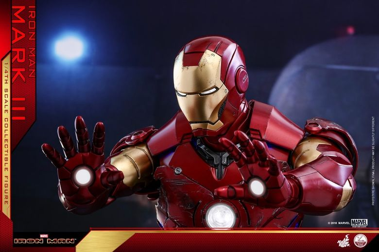 Iron Man 1-  Mark III (3) 1/4 - Deluxe version and normal version (Hot toys) 14380510
