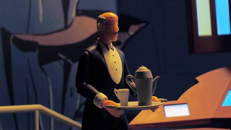 DCC Batman Animated Series Batcave Playset ft. Alfred & Batmobile 4fqivh10