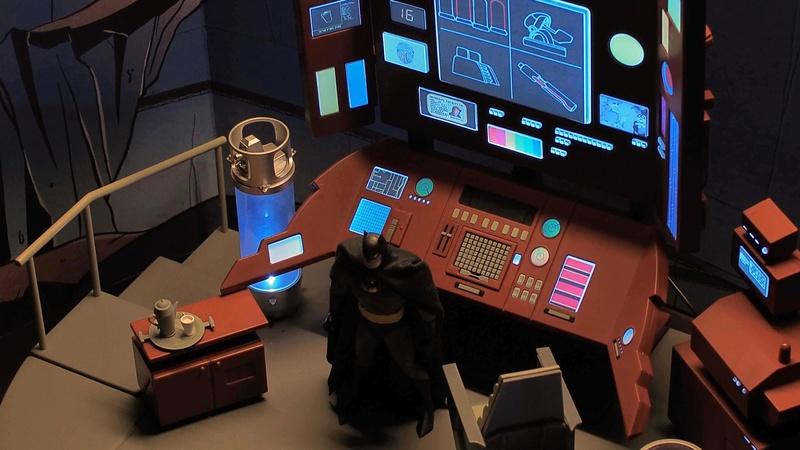 DCC Batman Animated Series Batcave Playset ft. Alfred & Batmobile 8a7rqc10