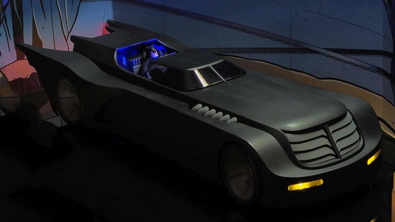 DCC Batman Animated Series Batcave Playset ft. Alfred & Batmobile Kzccw210
