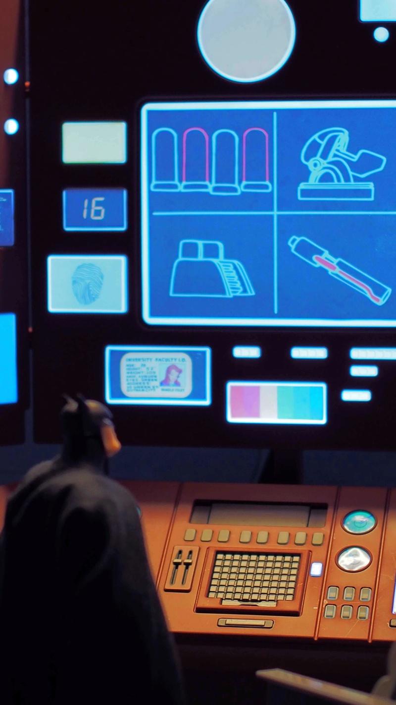 DCC Batman Animated Series Batcave Playset ft. Alfred & Batmobile Oozpf011