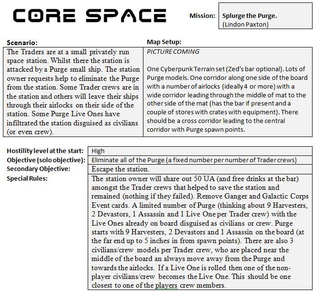 Mission 18 Splurge the Purge. (Lindon Paxton) Missio27