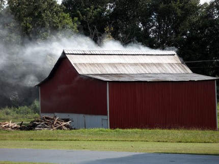 Le séchage des feuilles de tabac Feu211