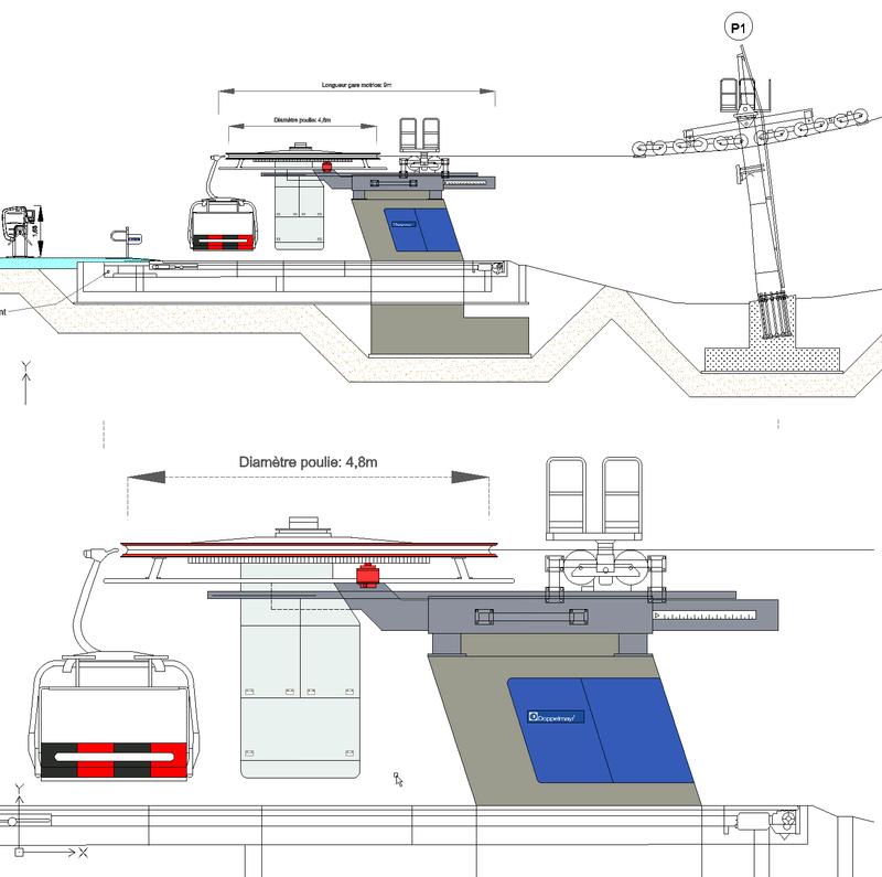 Dessins techniques, Plans 2D remontées mécaniques - Page 2 Doppel10