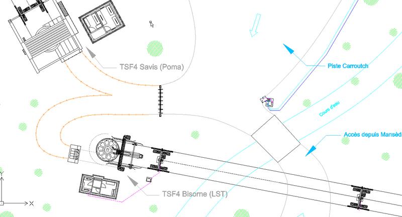 Construction télésiège fixe 4 places Bisorne (TSF4) - LST, Ax 3 Domaines Savis10