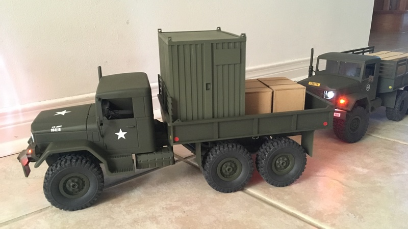 Hand made US conex container (Vietnam) Convoy10