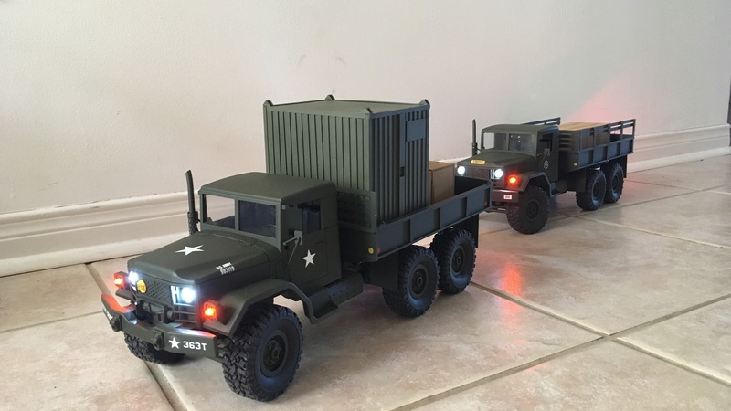 Hand made US conex container (Vietnam) Convoy12