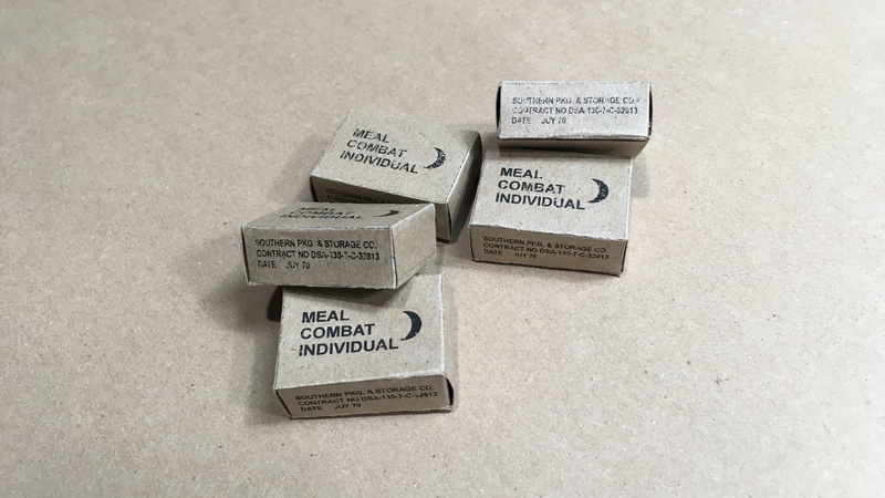 1/16 scale hand make ration meal box (US Army Vietnam) Meal_310
