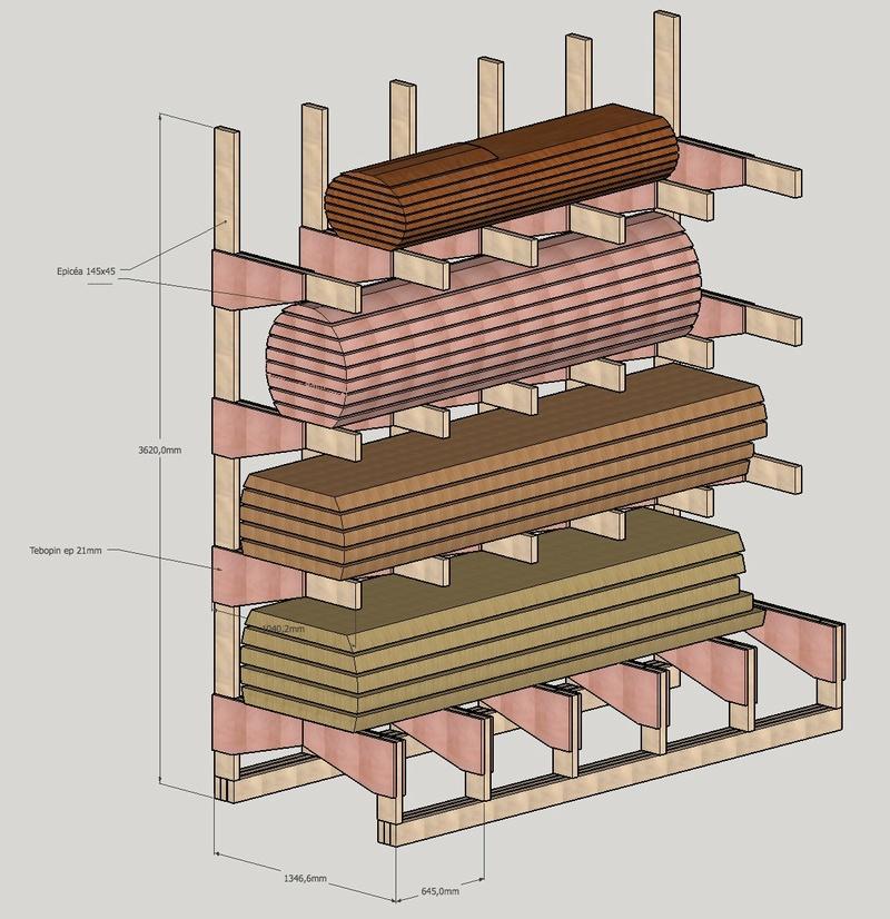 Stockage de plots sur rayonnages Cantilever Intérieur et Extérieur Captur12
