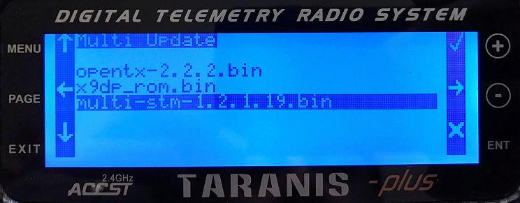 "[Tuto] Mettre à jour son module TX ""Multi STM32"" depuis sa radio Multi310"