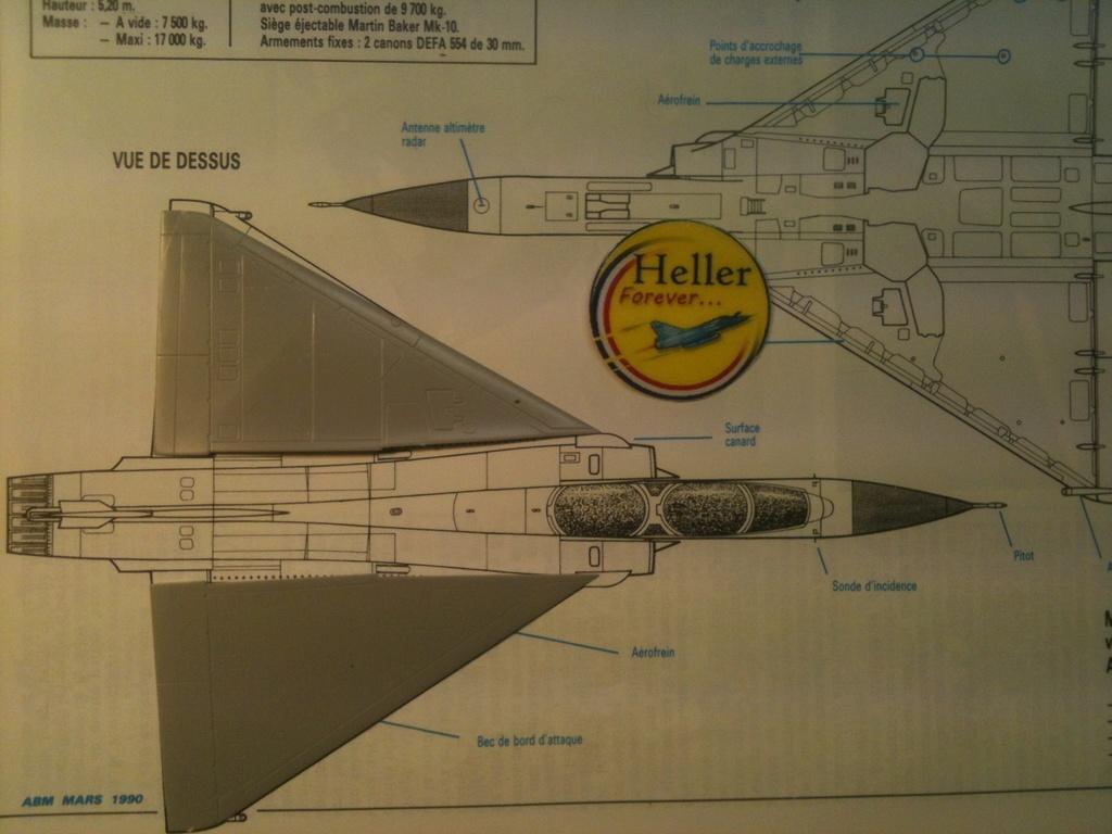 Comparatif DASSAULT MIRAGE 2000 C & N HELLER / ITALERI 1/72ème  Compar38