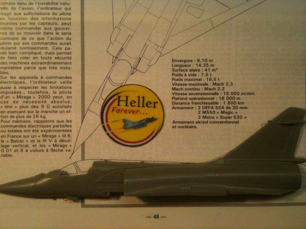 Comparatif DASSAULT MIRAGE 2000 C & N HELLER / ITALERI 1/72ème  Compar45