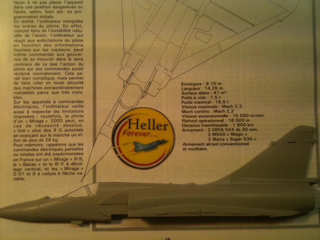Comparatif DASSAULT MIRAGE 2000 C & N HELLER / ITALERI 1/72ème  Compar47