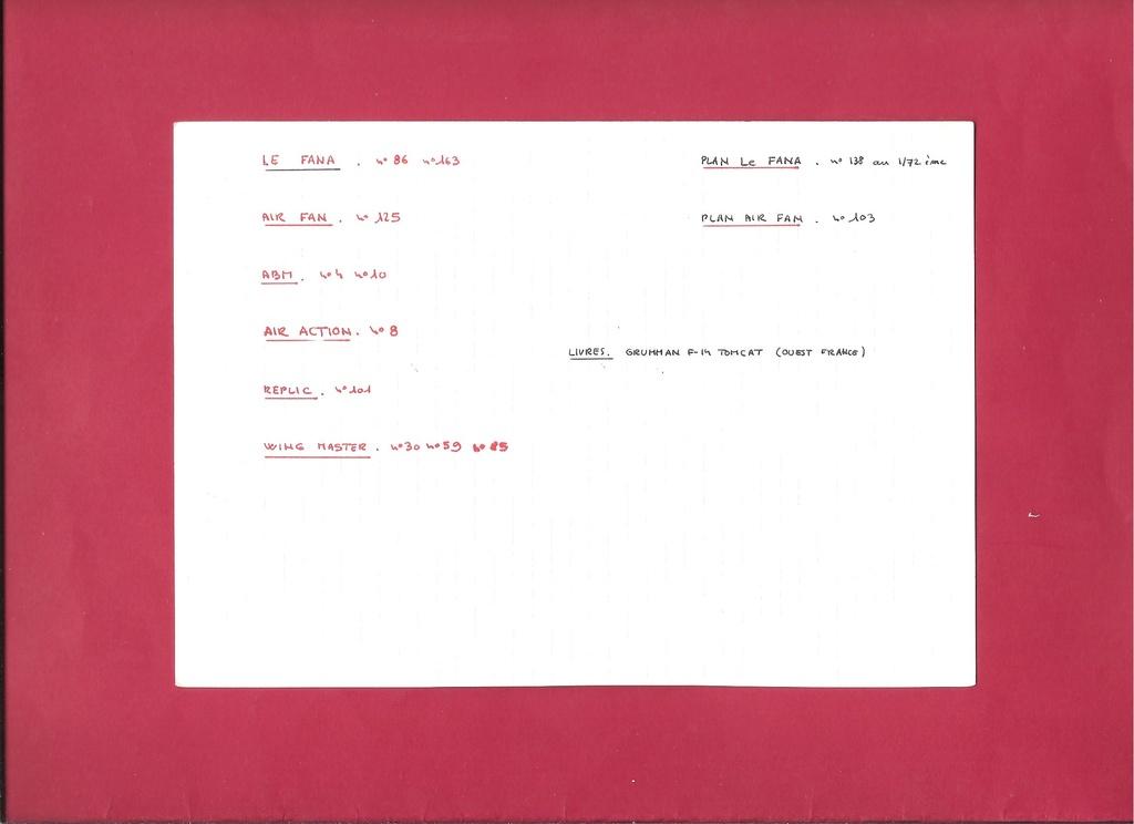 Renseignements sur les couleurs décoration missiles Phoenix, Sparrow, Sidewinder Docume20