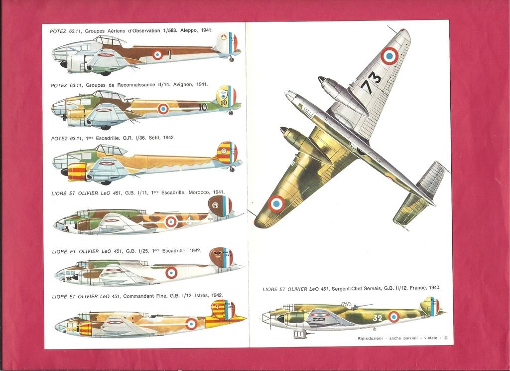 [ESCI] FRANCE Planche de décals n°36 LIORE & OLIVIER LéO 45 - POTEZ 63 1/72ème Esci_f27