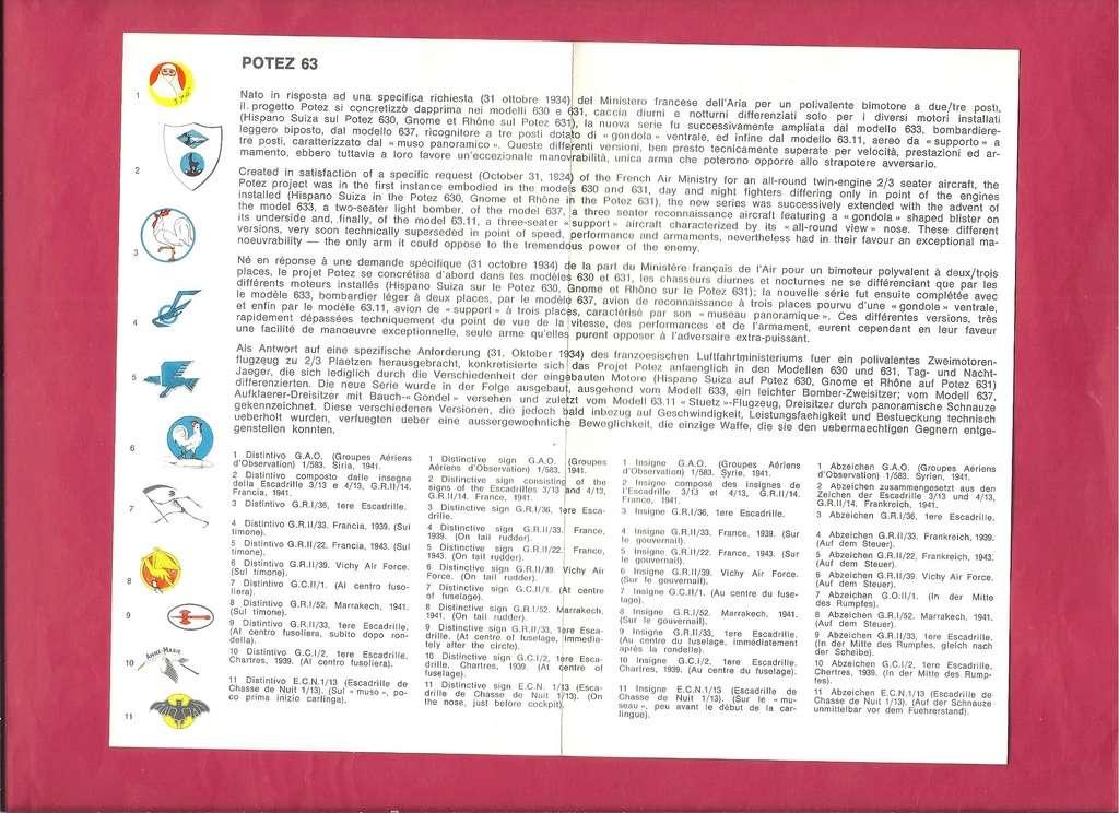 [ESCI] FRANCE Planche de décals n°36 LIORE & OLIVIER LéO 45 - POTEZ 63 1/72ème Esci_f29
