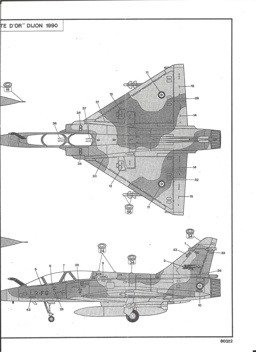 DASSAULT MIRAGE 2000 B 1/72ème Ref 80322 Notice Hell1039