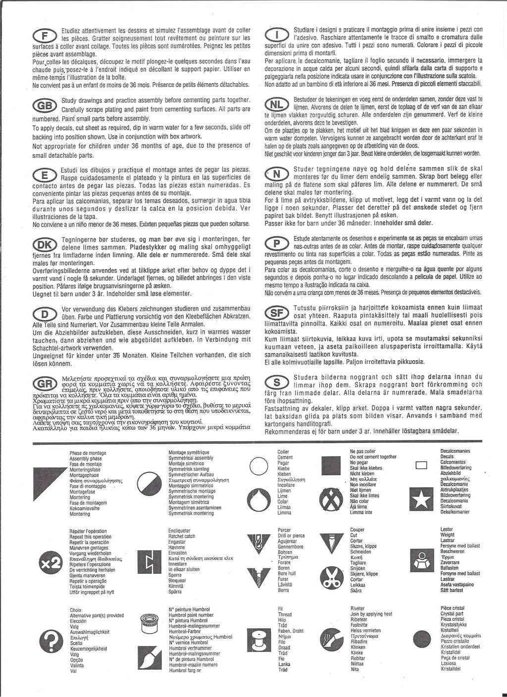 DASSAULT MIRAGE 2000 B 1/72ème Ref 80322 Notice Hell1042