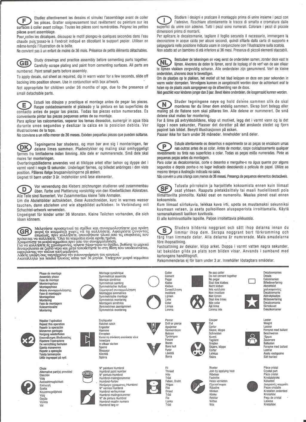 DASSAULT MIRAGE 2000 B 1/72ème Ref 80322 Notice Hell1043
