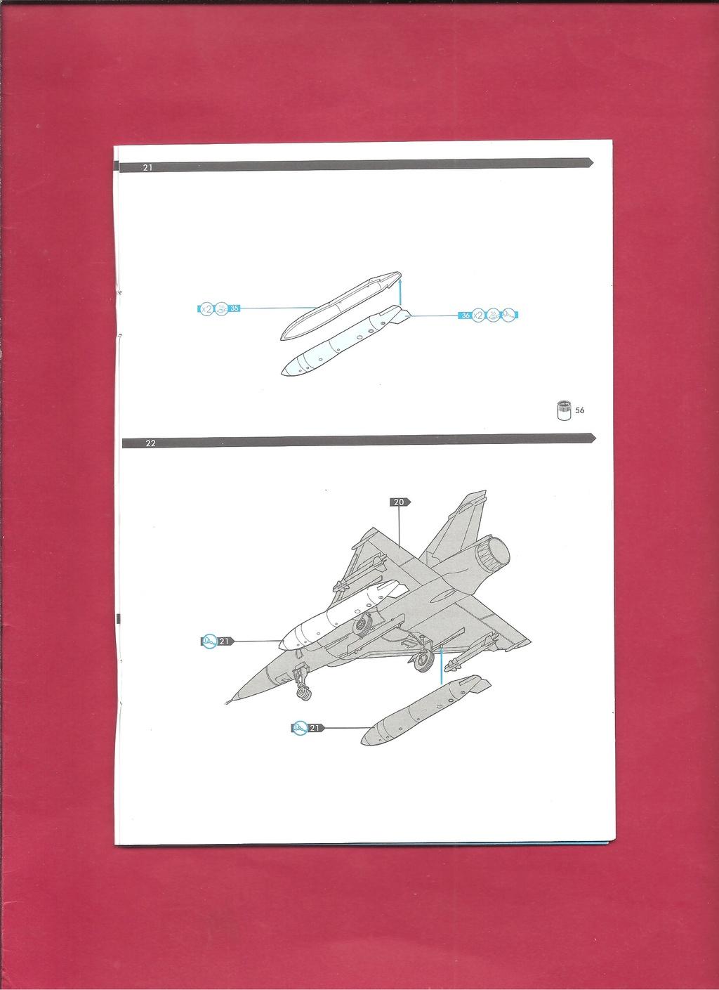 DASSAULT MIRAGE 2000 N 1/72ème Réf 60321 Notice Hell1052
