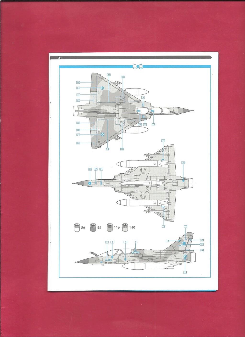 DASSAULT MIRAGE 2000 N 1/72ème Réf 60321 Notice Hell1056