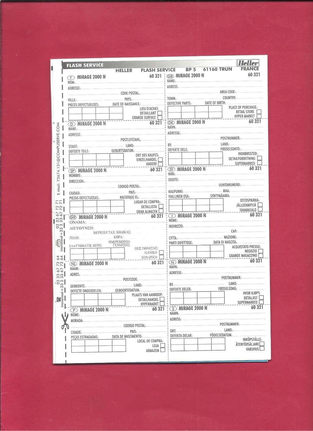 DASSAULT MIRAGE 2000 N 1/72ème Réf 60321 Notice Hell1058
