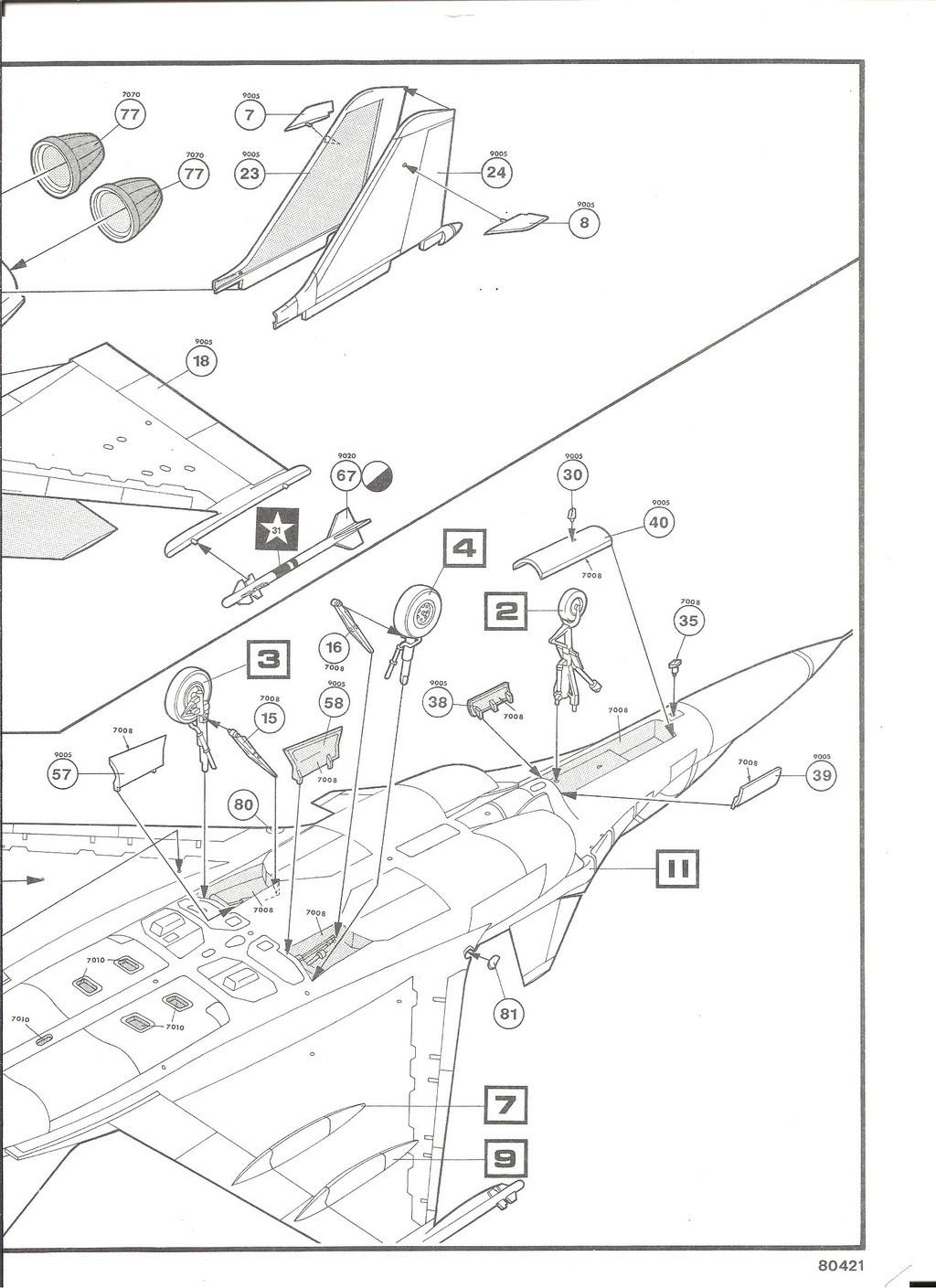 DASSAULT BA RAFALE 1/48ème Ref 80421-Notice Helle517