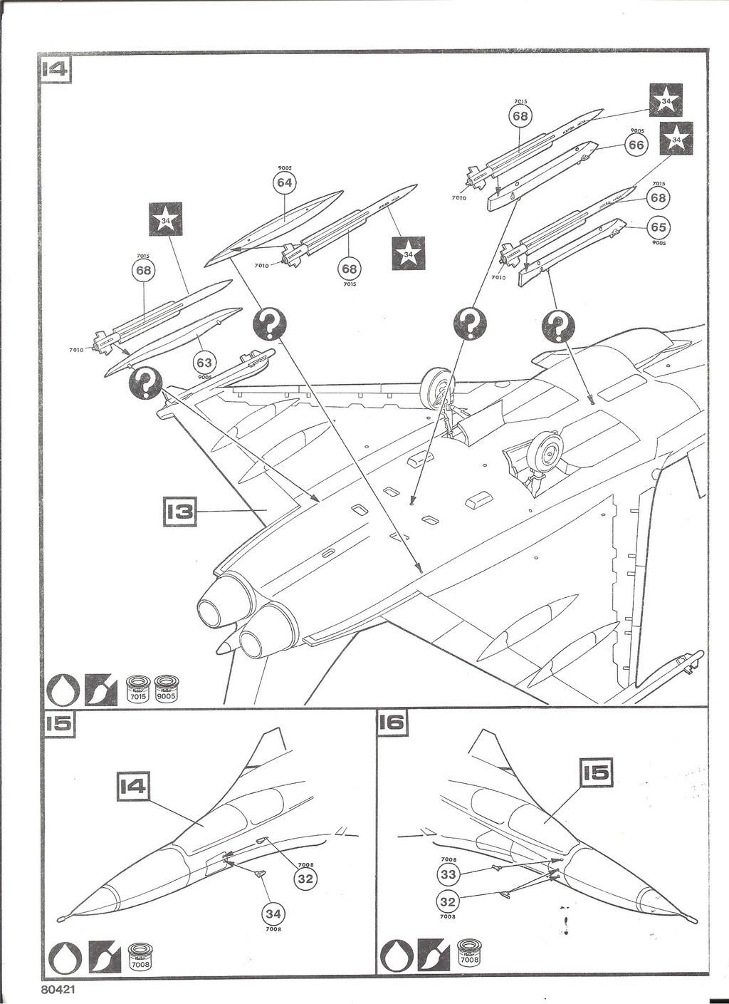 DASSAULT BA RAFALE 1/48ème Ref 80421-Notice Helle519