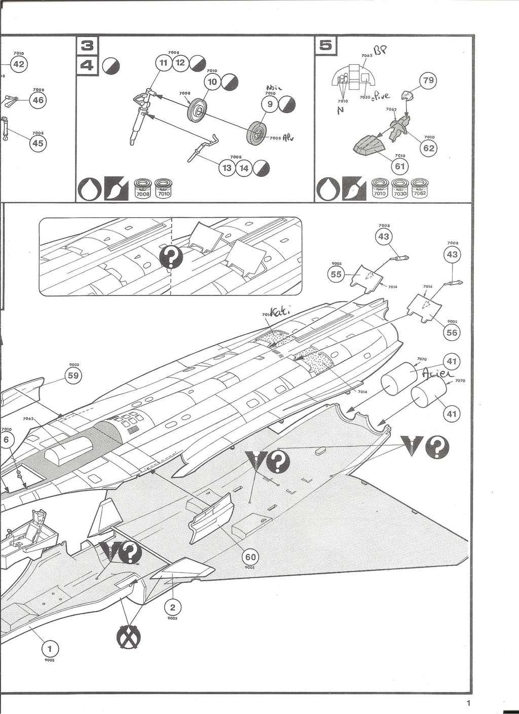 DASSAULT BA RAFALE 1/48ème Ref 80421-Notice Helle520