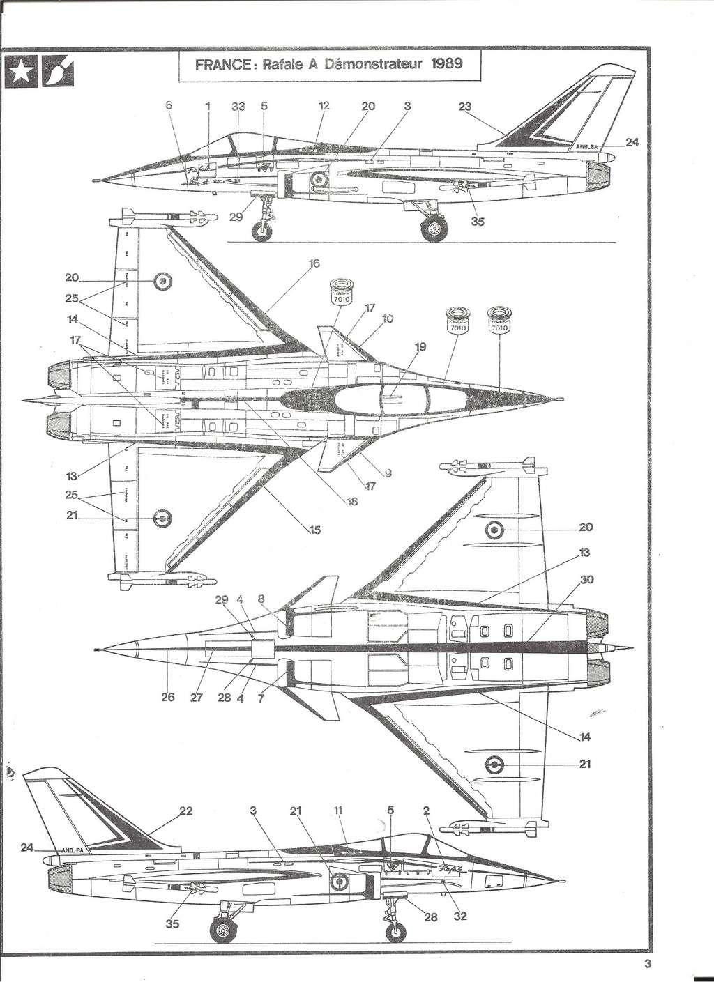 DASSAULT BA RAFALE 1/48ème Ref 80421-Notice Helle522
