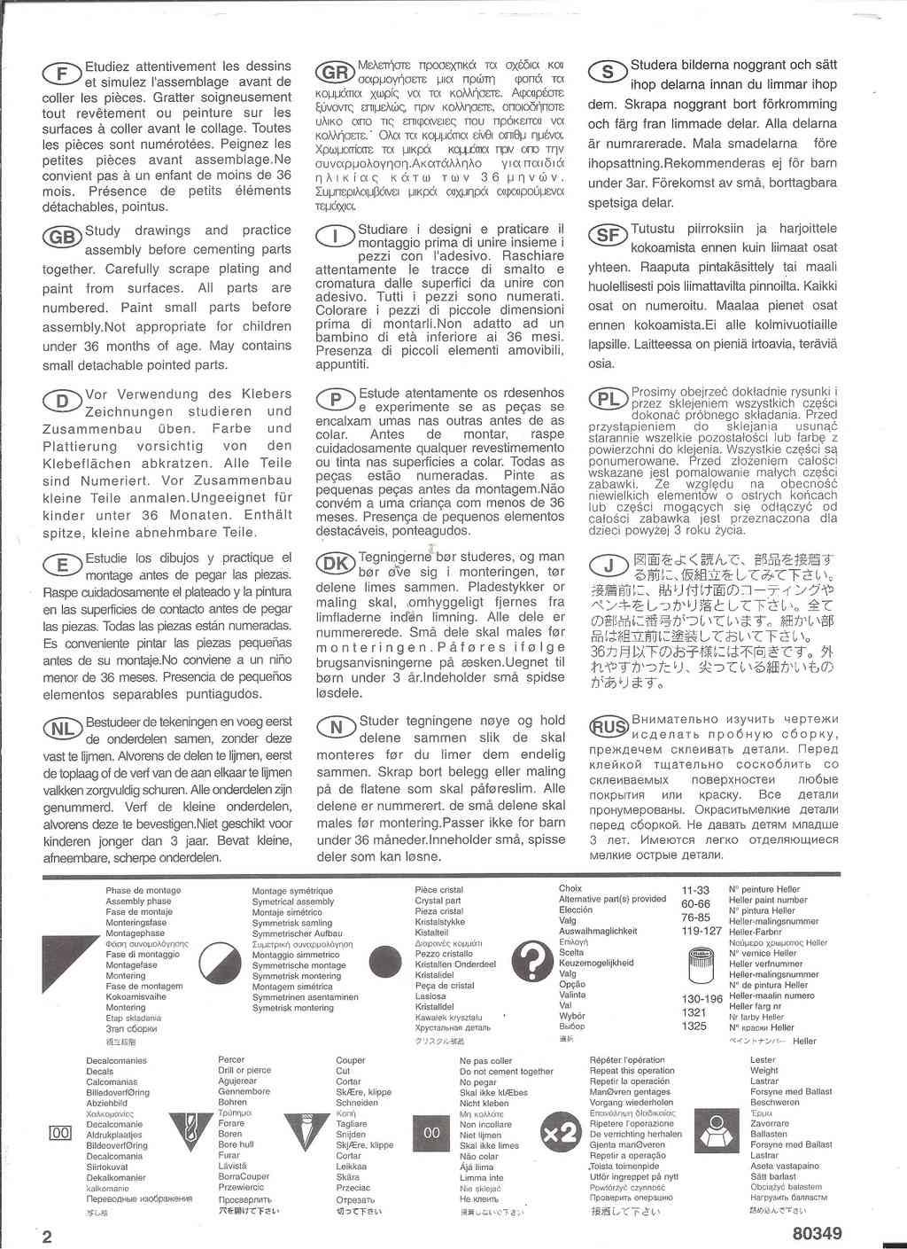 GRUMMANN E 2C HAWKEYE 1/72ème Réf 80349 Notice Helle795