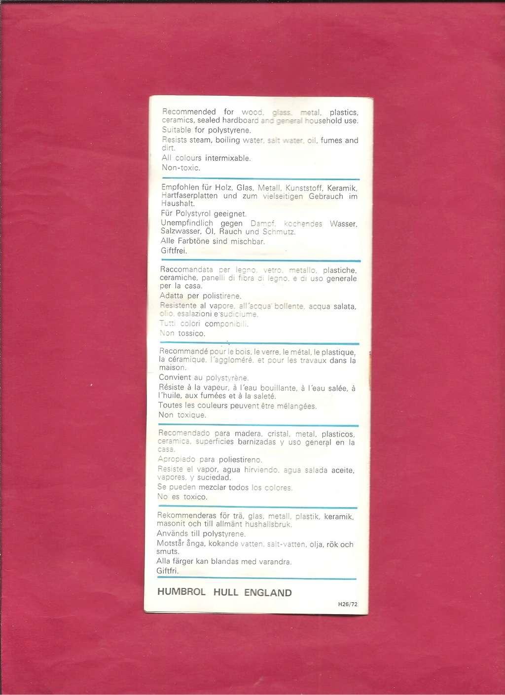 [HUMBROL 1972] Catalogue 1972 Humbro59