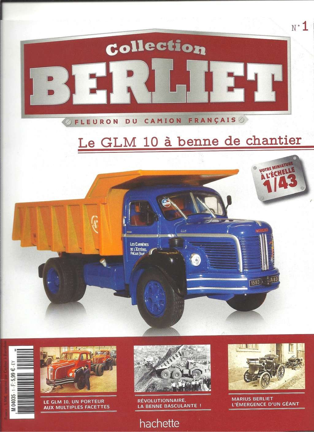 Collection camions BERLIET au 43ème par HACHETTE  Numyr275