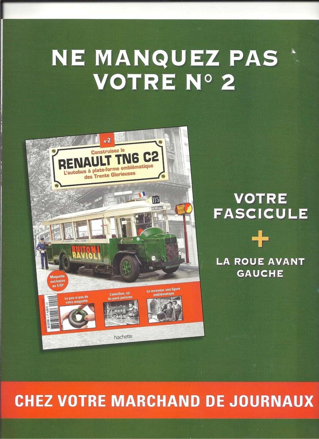 RENAULT TN6 C2 au 1/12ème collection de chez HACHETTE  Numyr290
