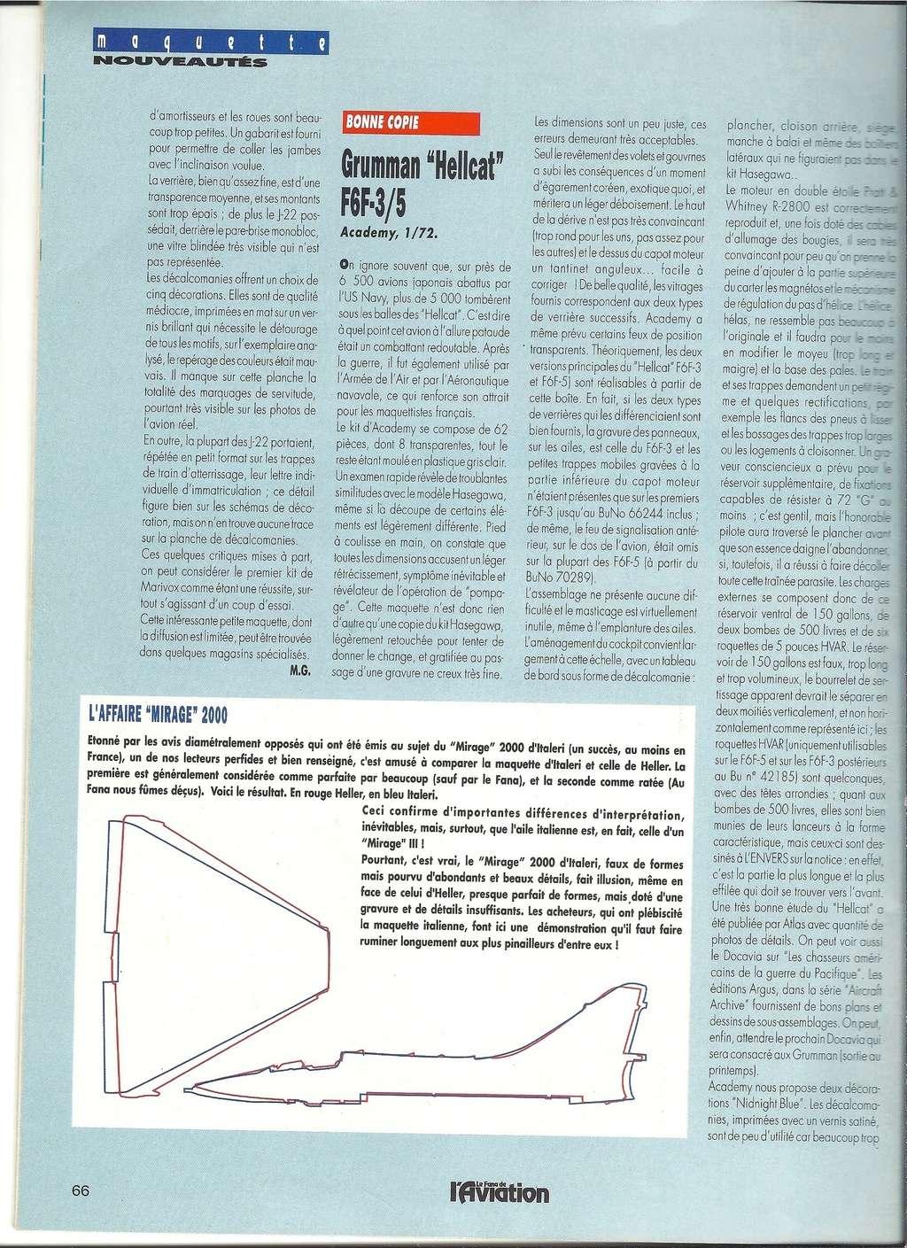 Comparatif DASSAULT MIRAGE 2000 C & N HELLER / ITALERI 1/72ème  Numyr388